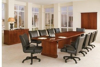 Belmont Boat Shaped Expandable Conference Table North Point - 120 conference table