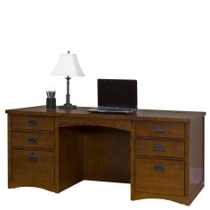 Amazing Mission Pasadena Double Pedestal Executive Desk North Download Free Architecture Designs Sospemadebymaigaardcom